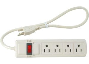 Computer power strip and switches